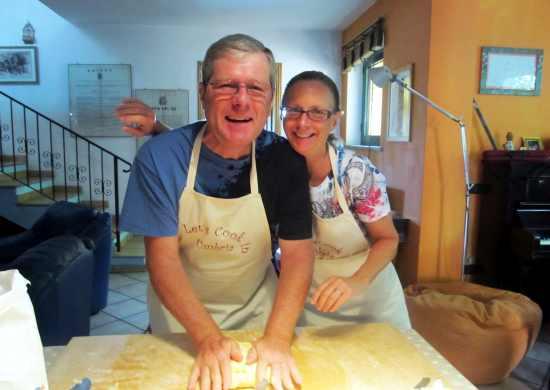 Home made pasta cooking lesson Umbria